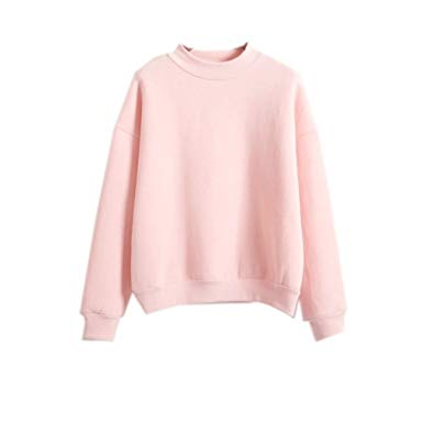 2017 Womens Cute Harajuku Pastel Peach Pink Hoodies Sweatshirts at