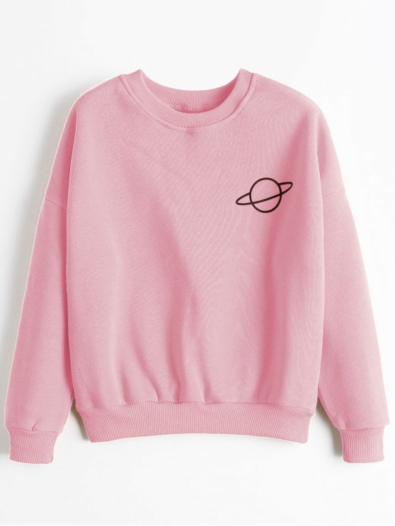 Go stylish with pink   sweatshirts