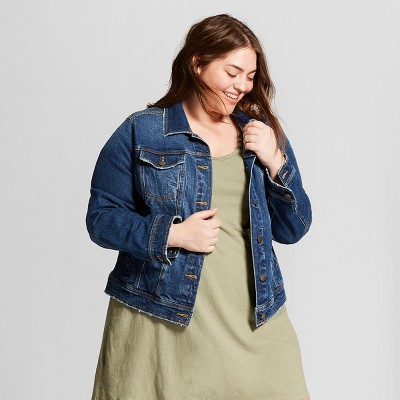 Women's Plus Size Freeborn Denim Jacket - Universal Thread™ Medium