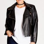 Be stylish with plus size   leather jacket