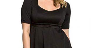 Kiyonna Women's Plus Size Posh Ponte Peplum Top at Amazon Women's