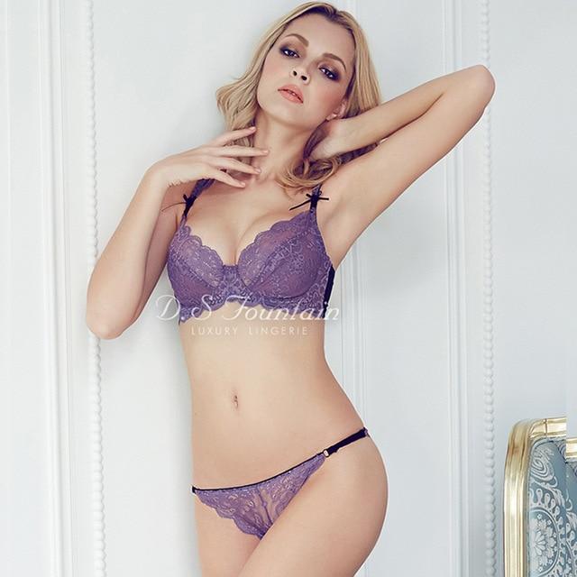 Sexy Women Large Size Underwear Bras Sets Ultrathin Lace Plus Size