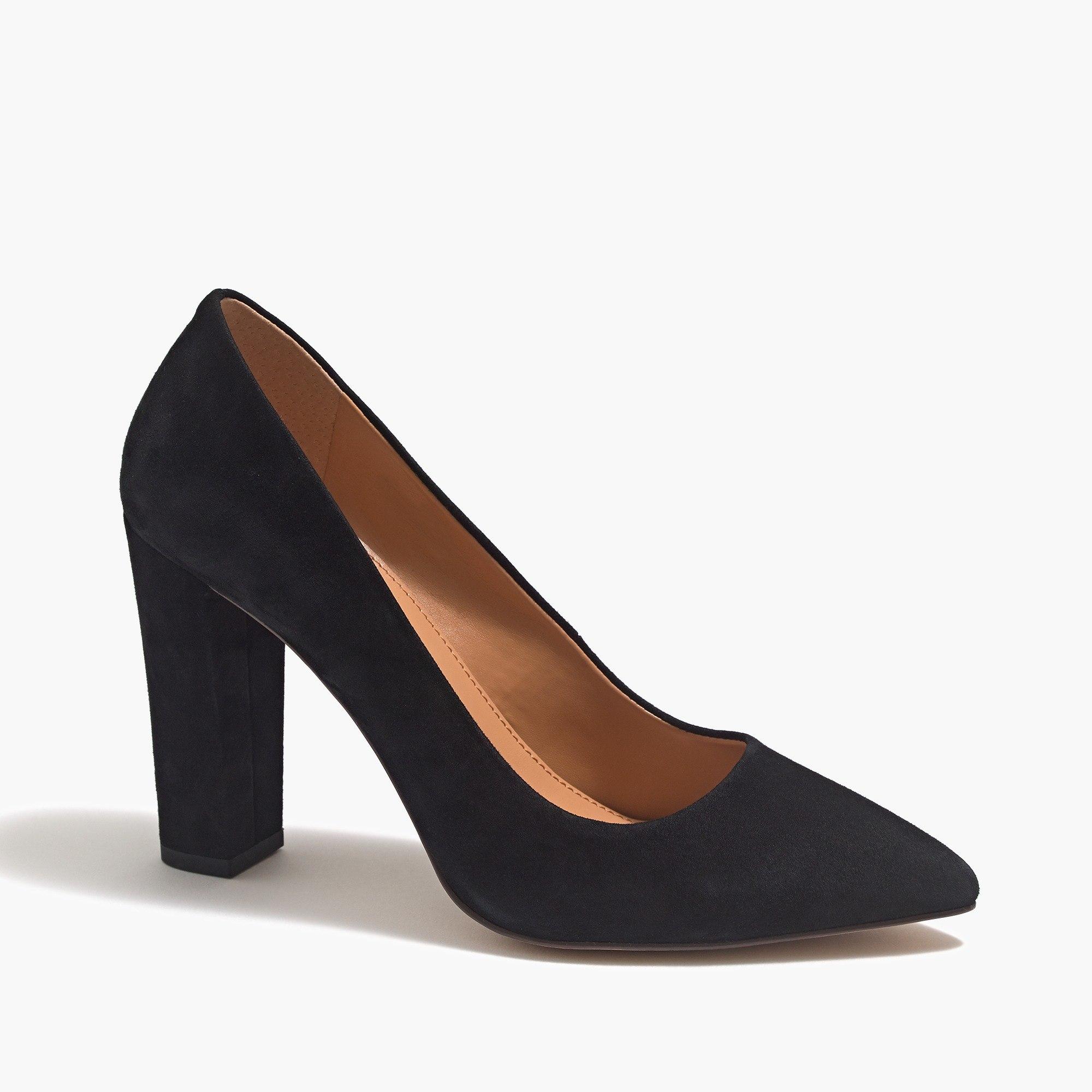 Suede pointed toe pumps : FactoryWomen Heels | Factory