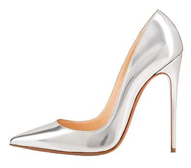 Amazon.com | MONICOCO Women's Pointed Toe Thin High Heels Patent