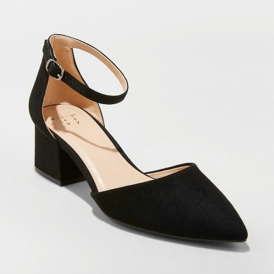 Women's Natalia Microsuede Pointed Toe Block Heeled Pumps - A New
