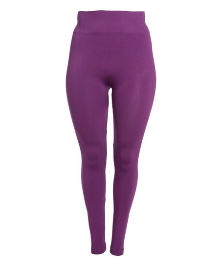 Crush Purple Leggings - Plus | Zulily