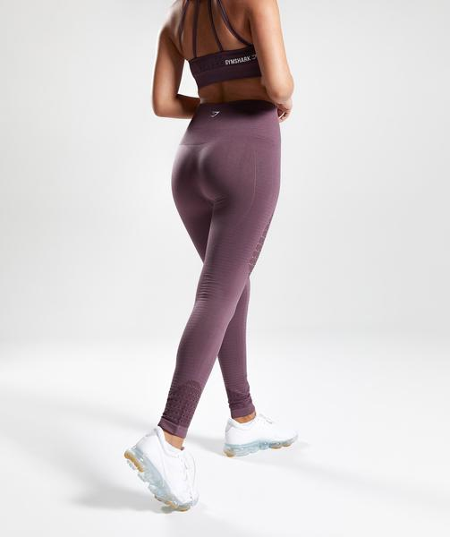 Gymshark Energy Seamless High Waisted Leggings - Purple Wash | Gymshark