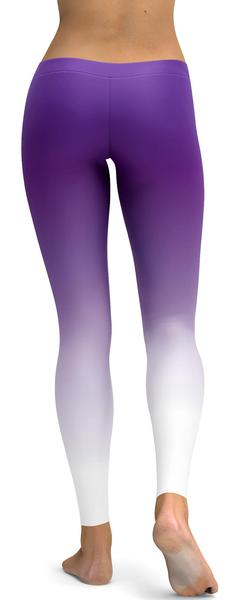 Soft and sleek purple leggings