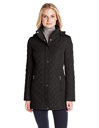 Calvin Klein Women's Classic Quilted Jacket with Side Tabs at Amazon