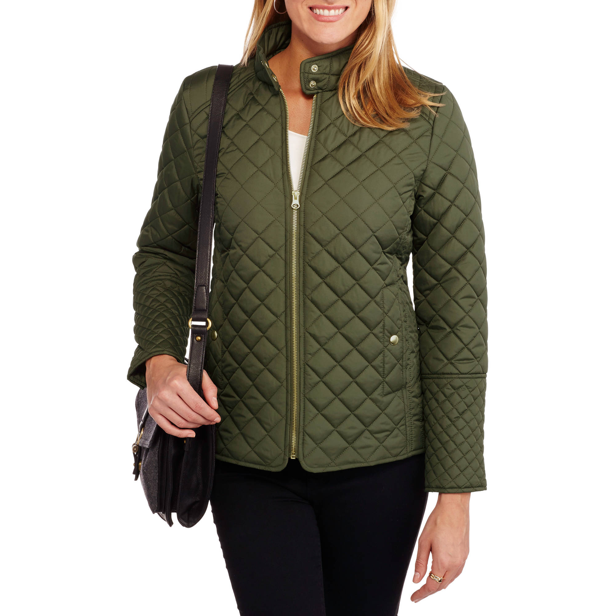 Faded Glory - Women's Quilted Jacket - Walmart.com