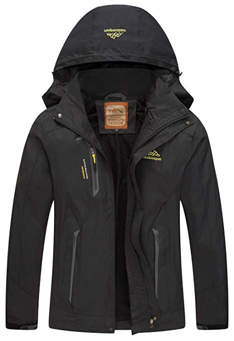 Amazon.com : Diamond Candy Men Hooded Waterproof Jacket Lightweight