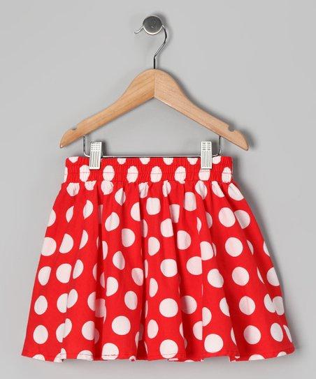 Rockefella Red & White Polka Dot Janet Skirt - Infant | Zulily