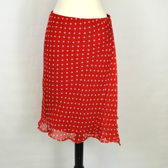 Necessary Objects Skirts | Early 1990s Red And White Polka Dot Skirt