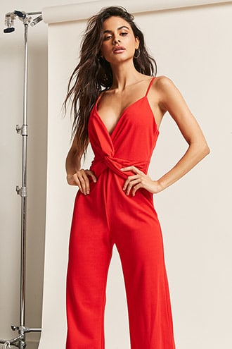 RED JUMPSUIT | Forever 21