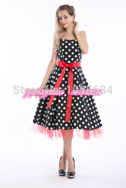 dropshipper plus size dress 50s style pin up dress retro clothes