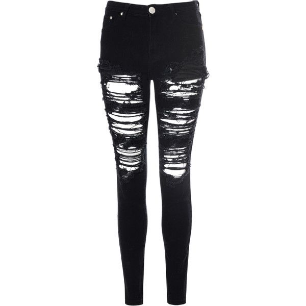 Black Heavily Ripped Jeans found on Polyvore | Skullcandy Headphones