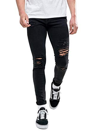 Wonder your wardrobe with the   Ripped black skinny jeans