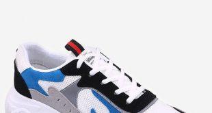 2019 Color Block Mesh Running Sneakers   Rosegal.com
