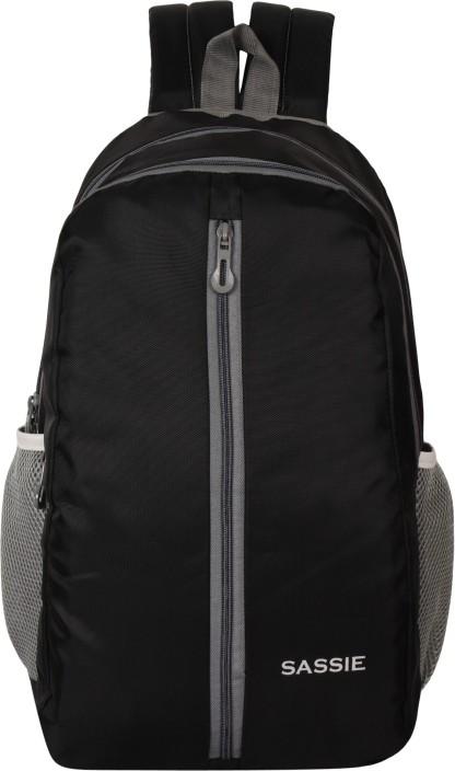 Flipkart.com | Sassie Black School Bag II Genuine Backpack II
