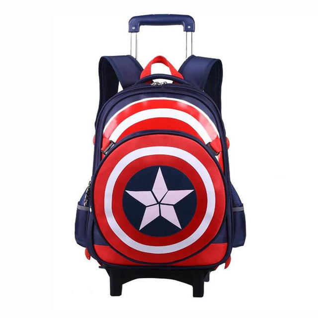 boys school bags kids school backpack with wheels boy trolley school