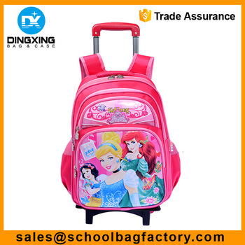 wheeled school bag for girls Manufacturer School Trolley Bag kids
