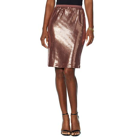 Slinky® Brand Sequin Pencil Skirt - 8872360 | HSN