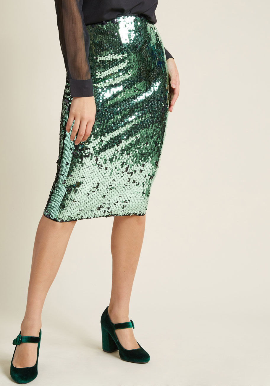 Louche Sequin Pencil Skirt | ModCloth