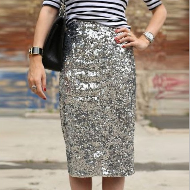 Sequin pencil skirt an   essential item for every lady