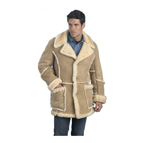 LeatherCoatsEtc Mens Classic Shearling Jacket