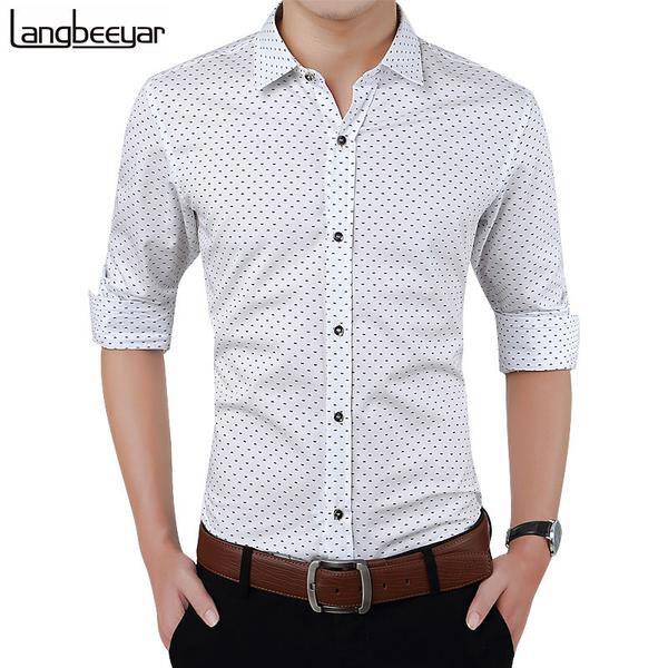 New Autumn Fashion Brand Men Clothes Slim Fit Men Long Sleeve Shirt