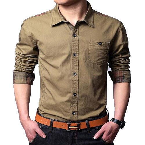 Men's Full Sleeves Casual Shirt, Gents Casual Shirt, Mens Plain
