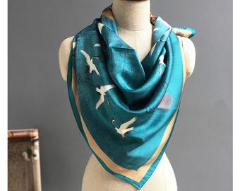 Silk scarf | Etsy