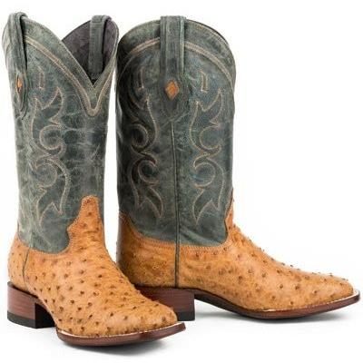 Stetson Cheyenne Ostrich Boots Authentic Exotic Boots 12-020-1852