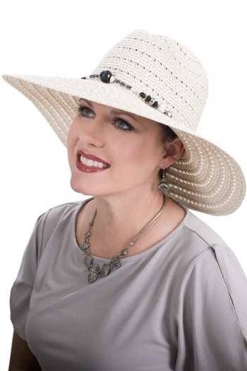 Metallic Fedora Sun Hat | Stylish Summer Hat for Women