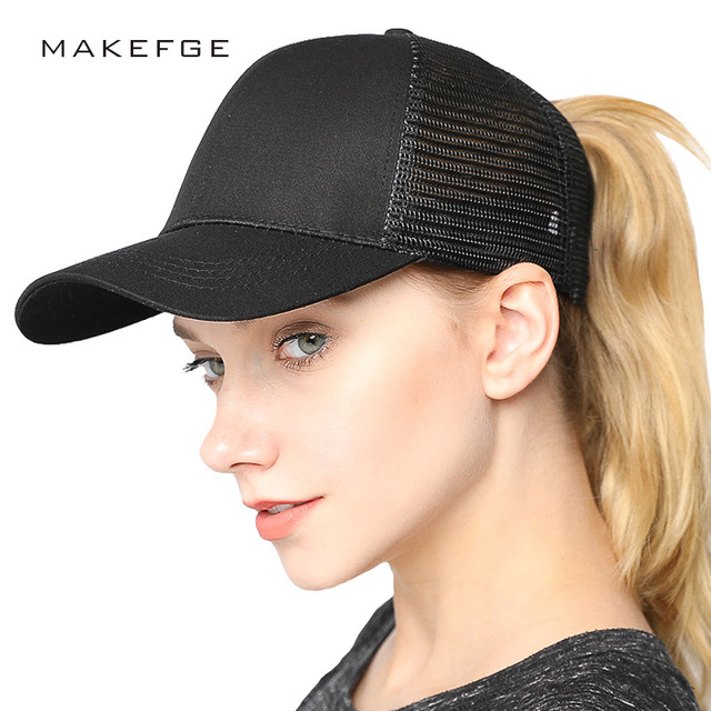 trucker hat caps women baseball cap Ponytail Baseball Cap Hats For