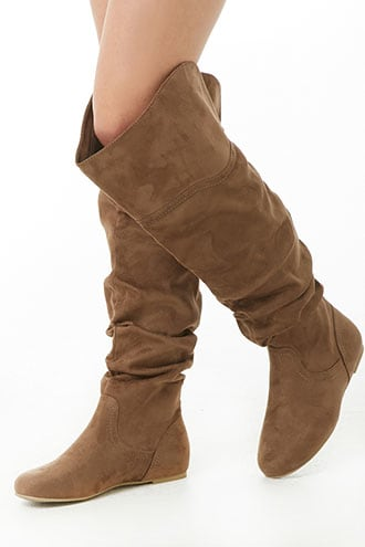 Over-The-Knee Faux Suede Boots | Forever 21