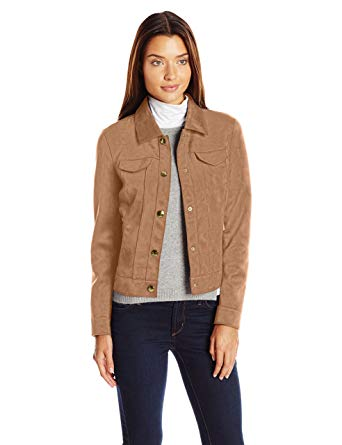 Amazon.com: Tribal Women's Faux Suede Jacket: Clothing