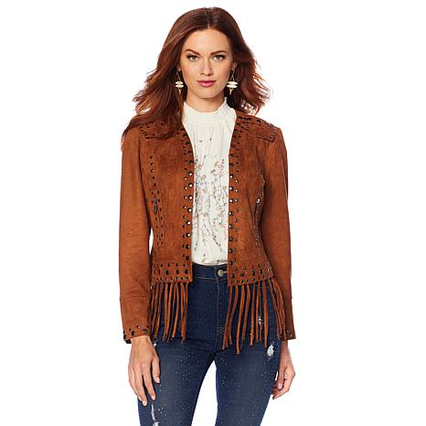 Sheryl Crow Studded Faux Suede Jacket - 8762986 | HSN