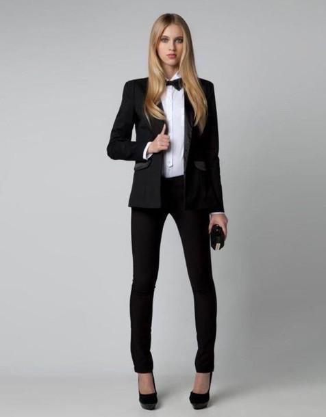 pants, tuxedo, suits for women, suit, boyish - Wheretoget