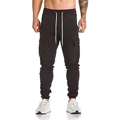 haoricu Men Sweatpants, Clearance Men Drawstring Trousers Harem