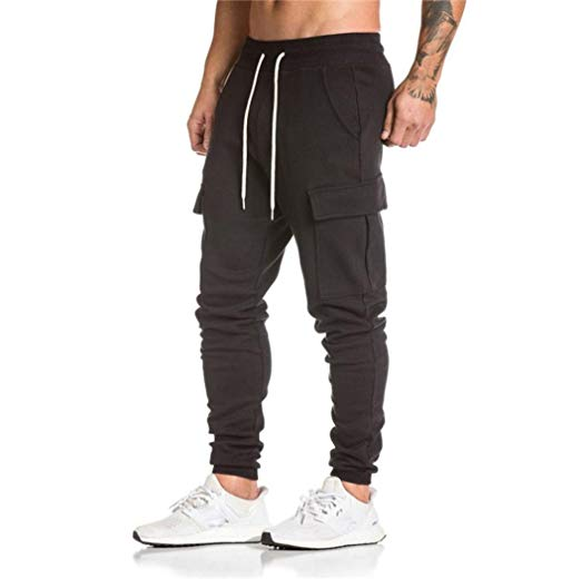 TOOPOOT Men Sweatpants, Cargo Work Trousers Jogger Basic Sportwear