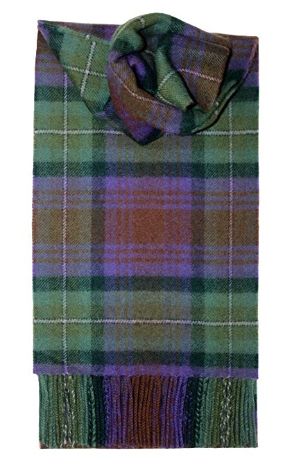 In winter get stylish look   with tartan scarf
