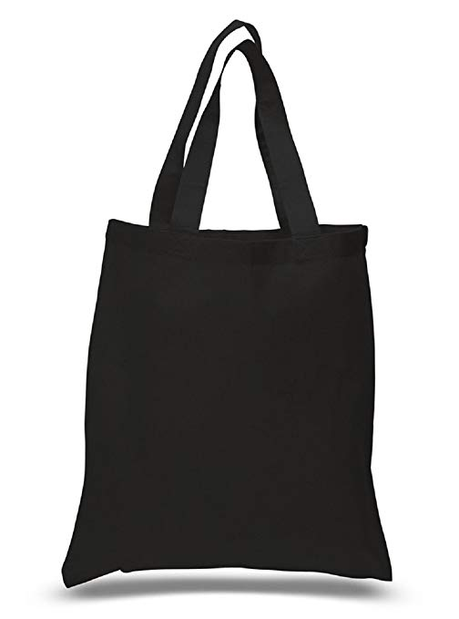 Amazon.com: Set of 6 Blank Cotton Tote Bags Reusable 100% Cotton