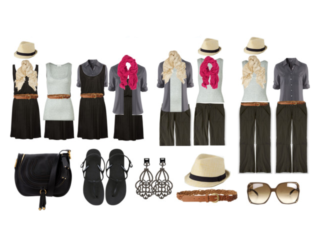 Minimalista Travel Packing - How to Mix and Match 4 Clothes