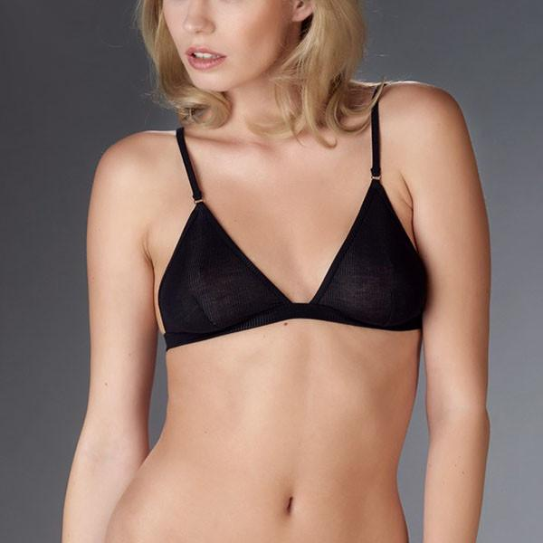 Maison Close: Bellevue Wireless Triangle Bra - Black u2013 Azaleas