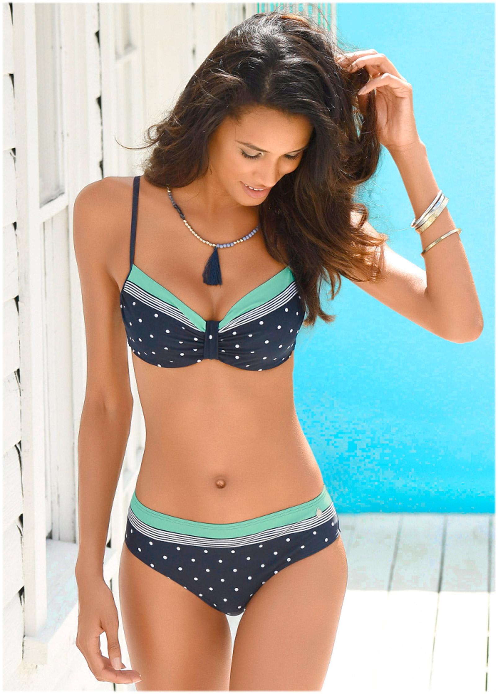 Green Sea Dot UNDERWIRE BIKINI TOP | Underwire Bikinis | VENUS