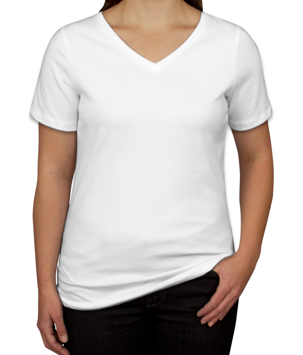 Custom Bella + Canvas Women's V-Neck T-shirt - Design Women's Short