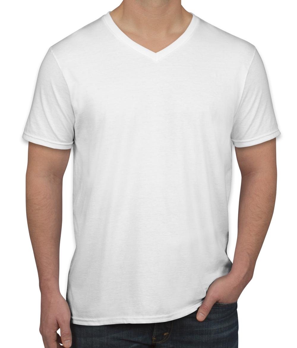 Custom Gildan Softstyle Jersey V-Neck T-shirt - Design Short Sleeve