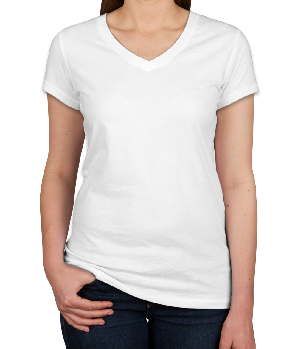 Custom Bella + Canvas Juniors Jersey V-Neck T-shirt - Design Women's