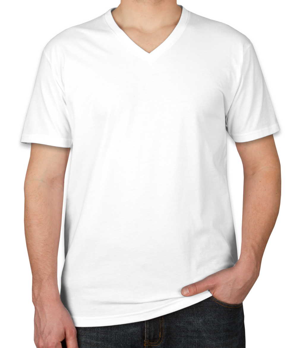 Custom Next Level 60/40 V-Neck T-shirt - Design Short Sleeve T